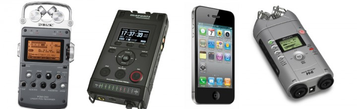 Portable Recorders 1 Mic Tests: Zoom H4, Marantz PMD 661,Sony PCM D-50, iPhone 4